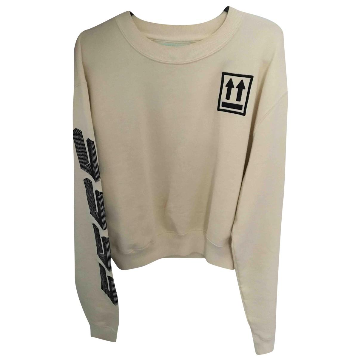 Off-white \N Pullover in  Beige Baumwolle
