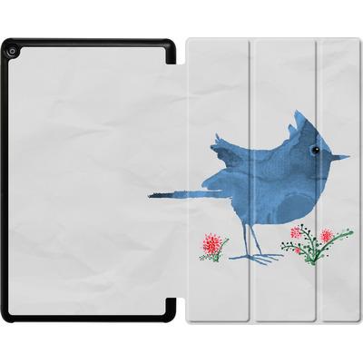 Amazon Fire HD 10 (2018) Tablet Smart Case - Watercolour Bird White von caseable Designs