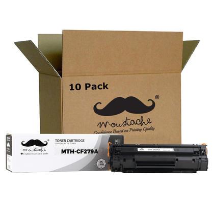 Compatible HP 79A CF279A cartouche de toner noir - Moustache - 10/paquet
