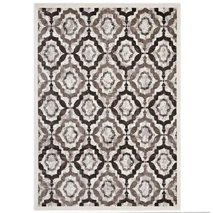 Kalinda Collection R-1128C-810 Rustic Vintage Moroccan Trellis 8x10 Area Rug in Brown  Beige and Ivory