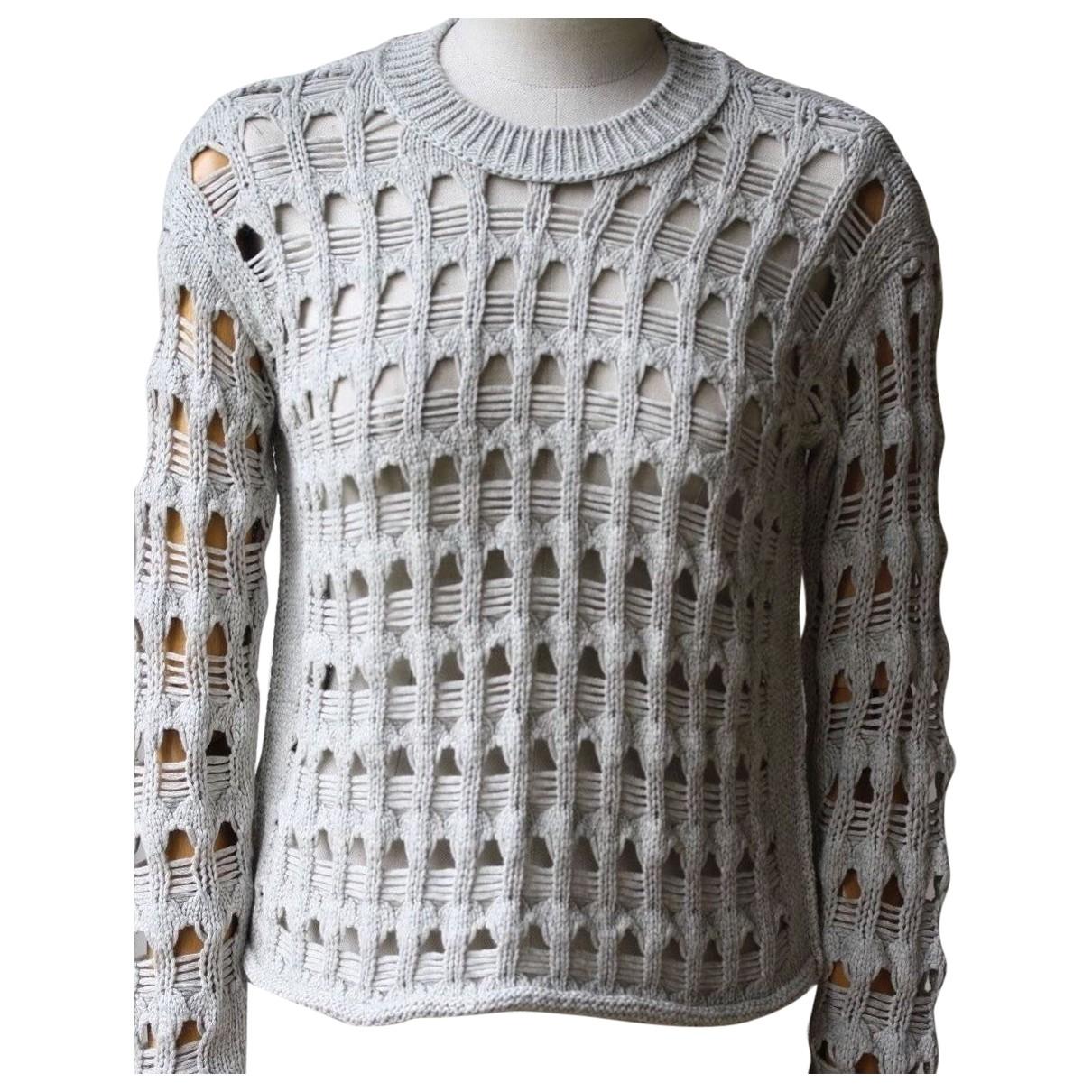 Inhabit \N Pullover in  Weiss Baumwolle