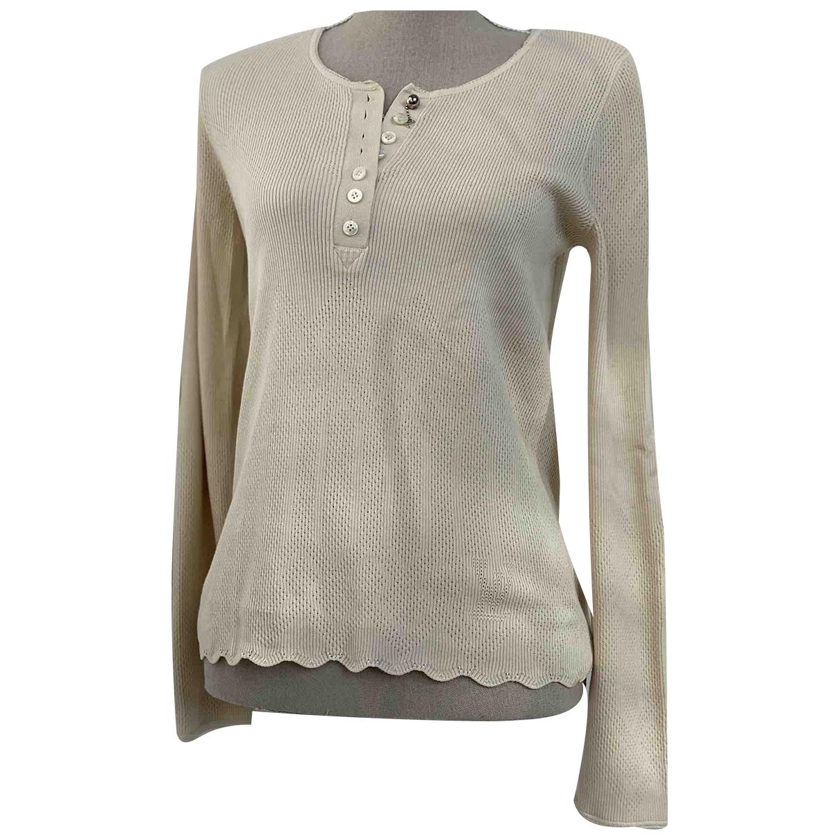 Louis Vuitton - Top   pour femme en coton - beige