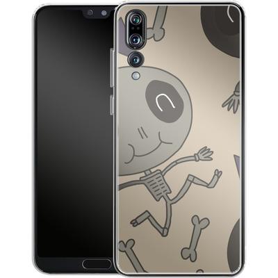 Huawei P20 Pro Silikon Handyhuelle - Cartoon Skeleton von caseable Designs