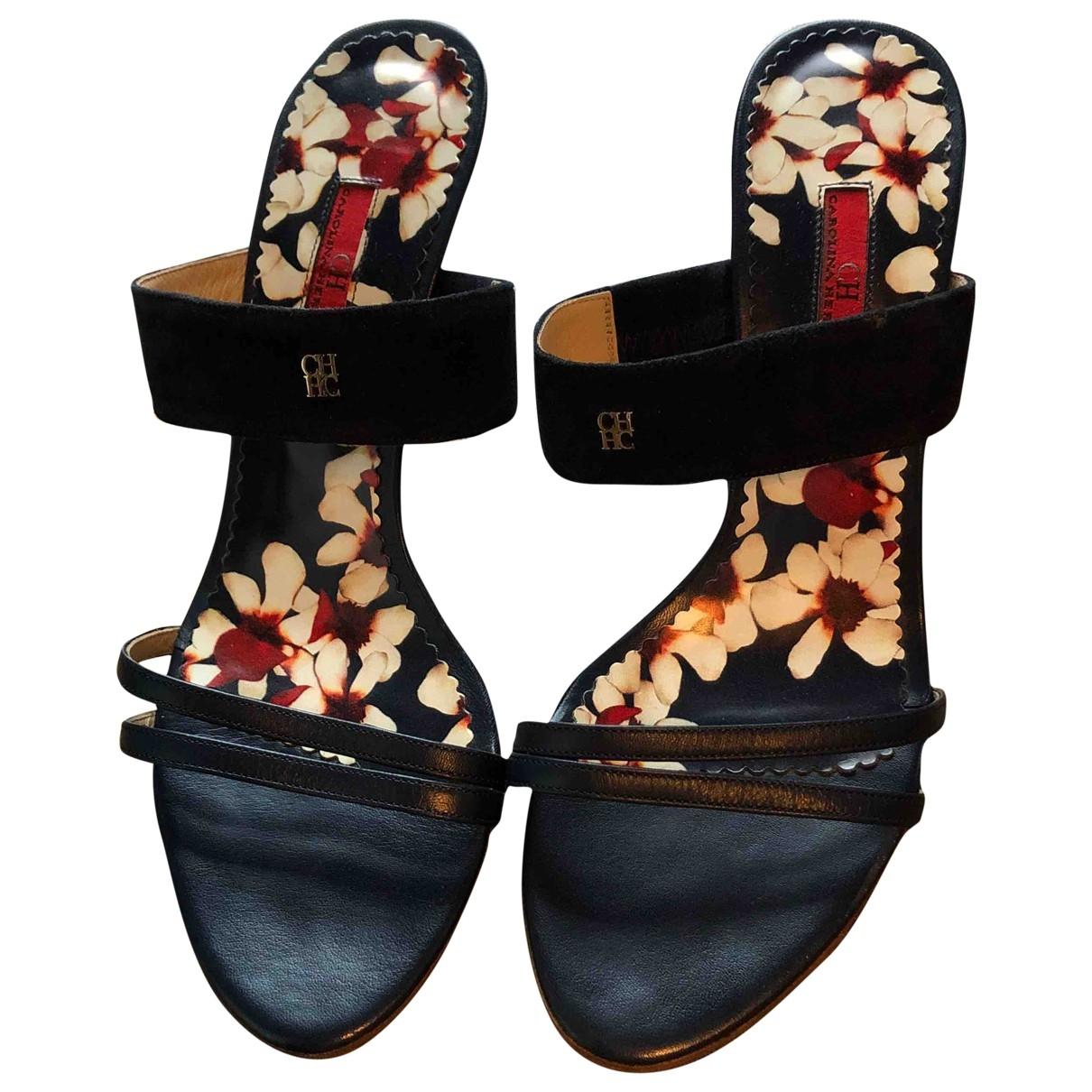 Sandalias de Cuero Carolina Herrera