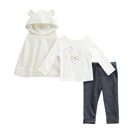 Sweetheart Rose Baby Girls 3-pc. Pant Set, 24 Months , Multiple Colors