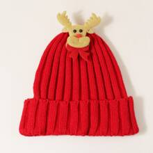 Christmas Deer Decor Knit Beanie