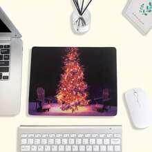 Mauspad mit Weihnachtsbaum Muster