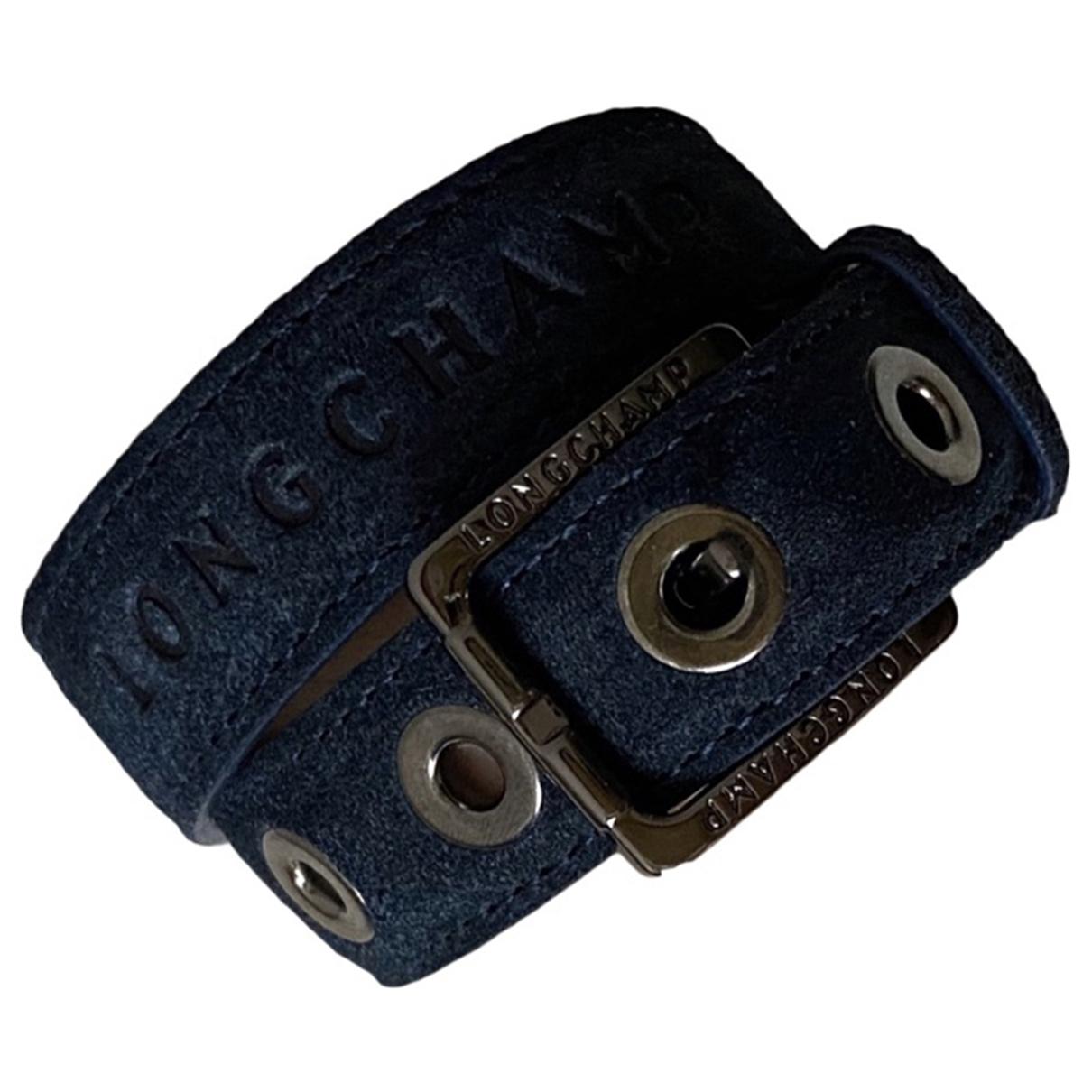 Longchamp N Blue Leather bracelet for Women N