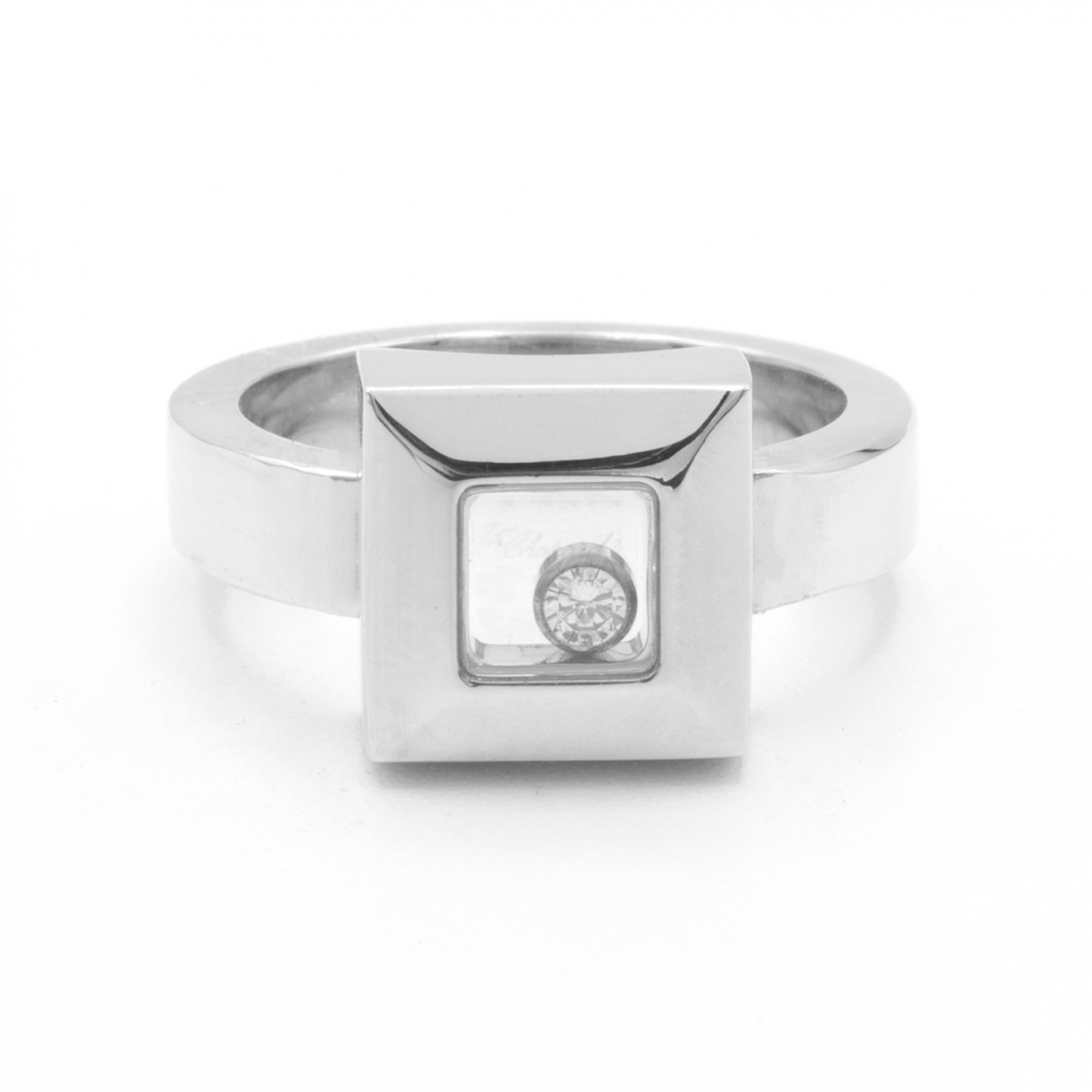 Chopard - Bague Happy Diamonds pour femme en or blanc - argente