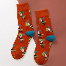 Socken mit Papagei Muster