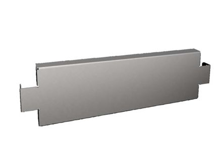 Rittal 19-inch Base/Plinth Trim Panel, Stainless Steel (2)