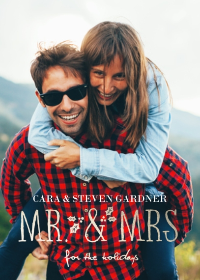 Christmas Photo Cards 5x7 Cards, Premium Cardstock 120lb, Card & Stationery -Mr & Mrs Holiday