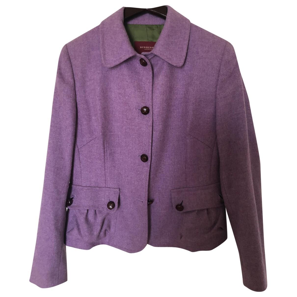 Burberry - Veste   pour femme en laine - violet