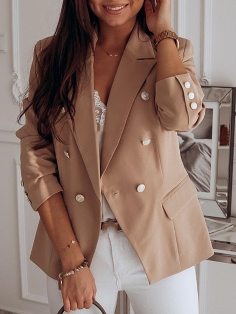 Ericdress Long Sleeve Plain One Button Standard Casual Women's Blazer