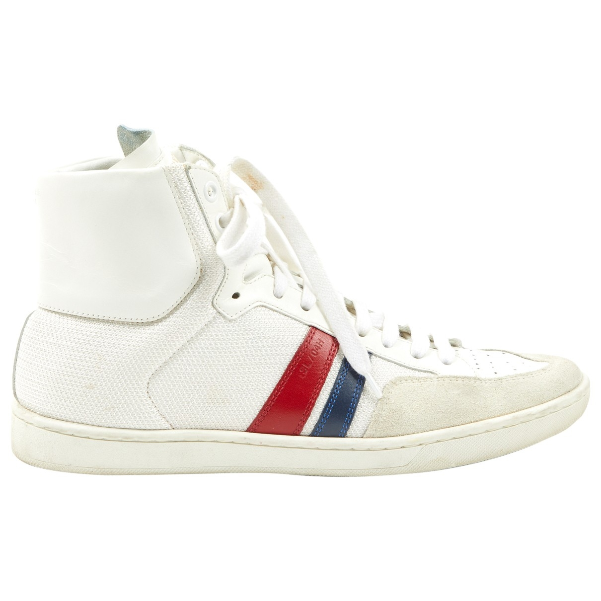 Saint Laurent Bedford White Leather Trainers for Women 39 EU