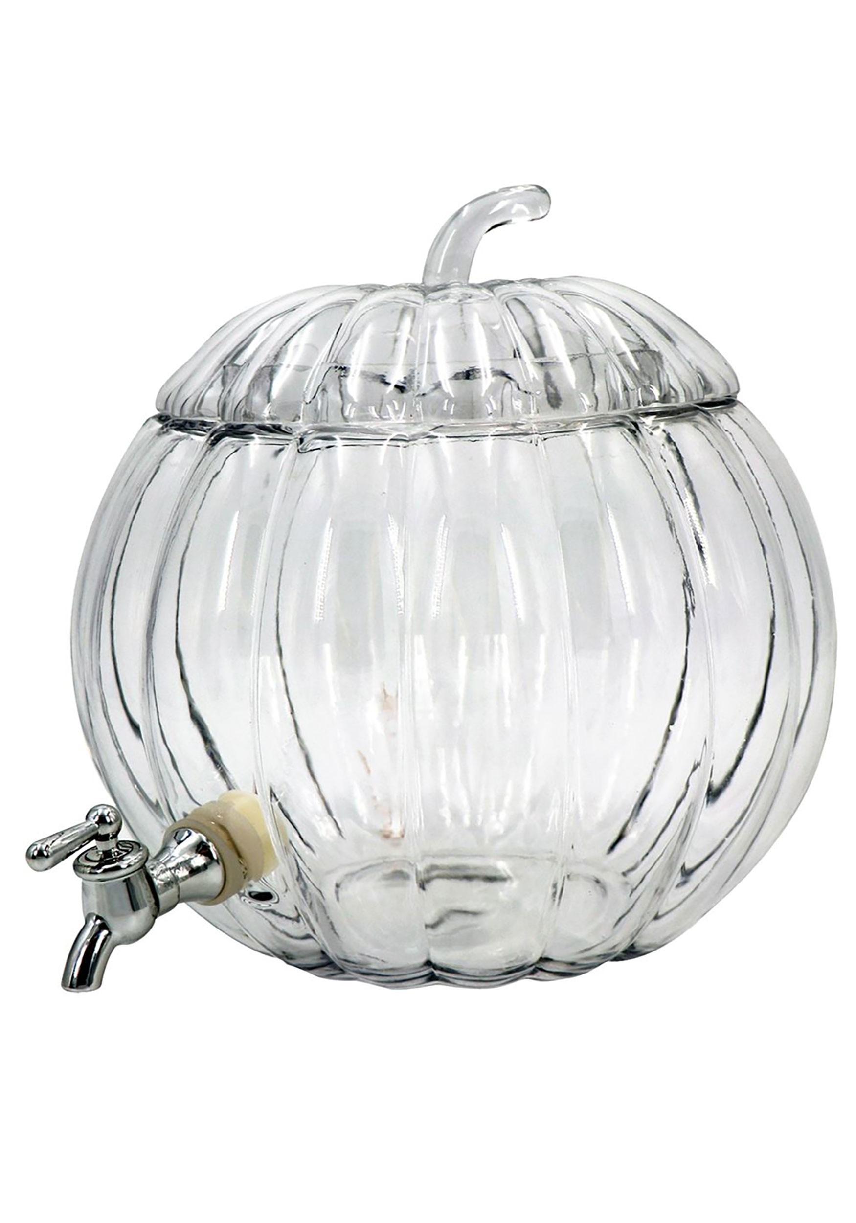 Halloween Decor - 2 Gallon Glass Pumpkin Party Drink Dispenser