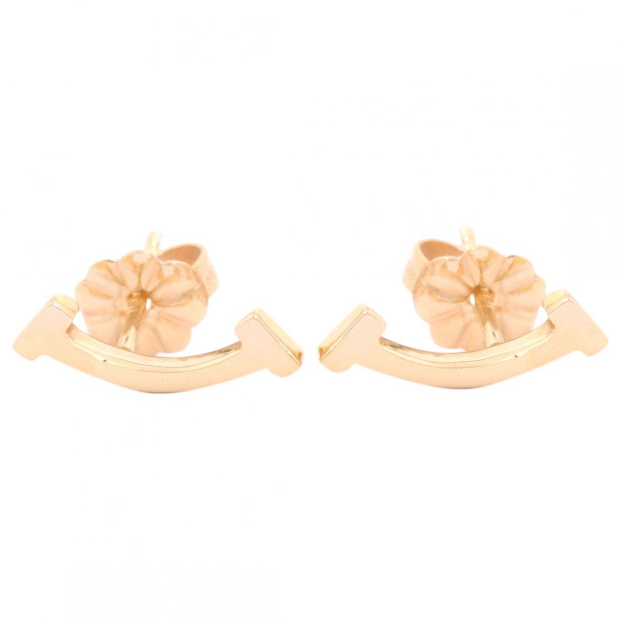Tiffany & Co - Boucles doreilles   pour femme en or rose - dore