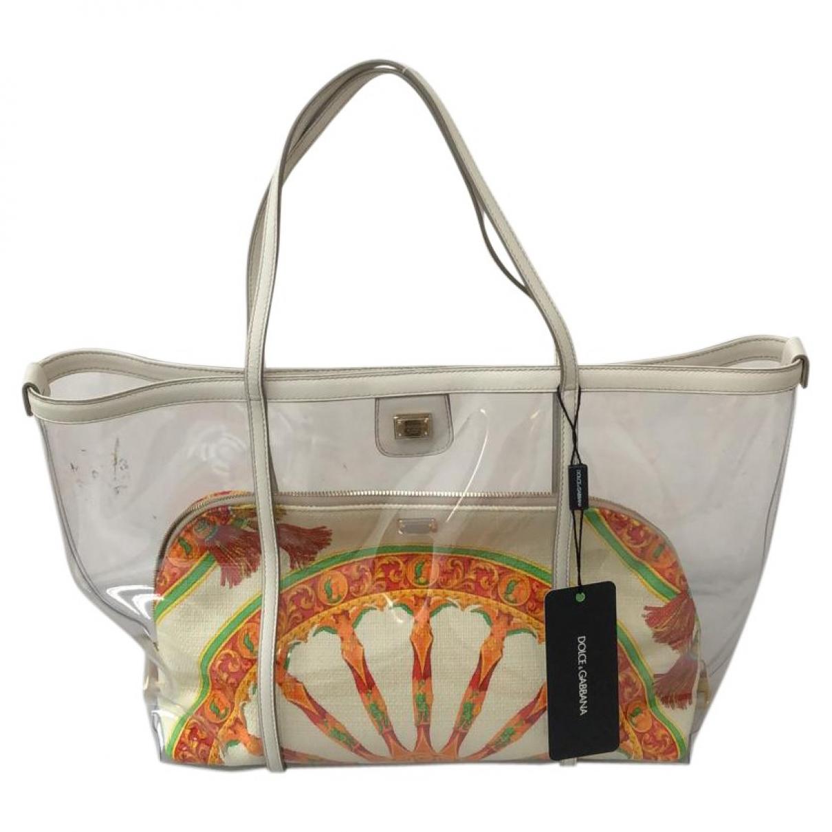 Bolso de mano en Plastico Blanco Dolce & Gabbana