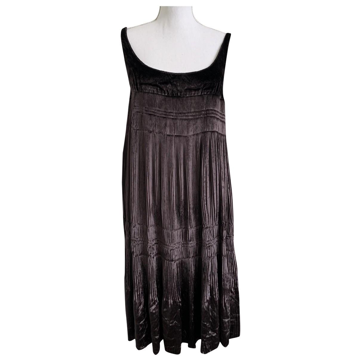 Burberry - Robe   pour femme en velours - marron
