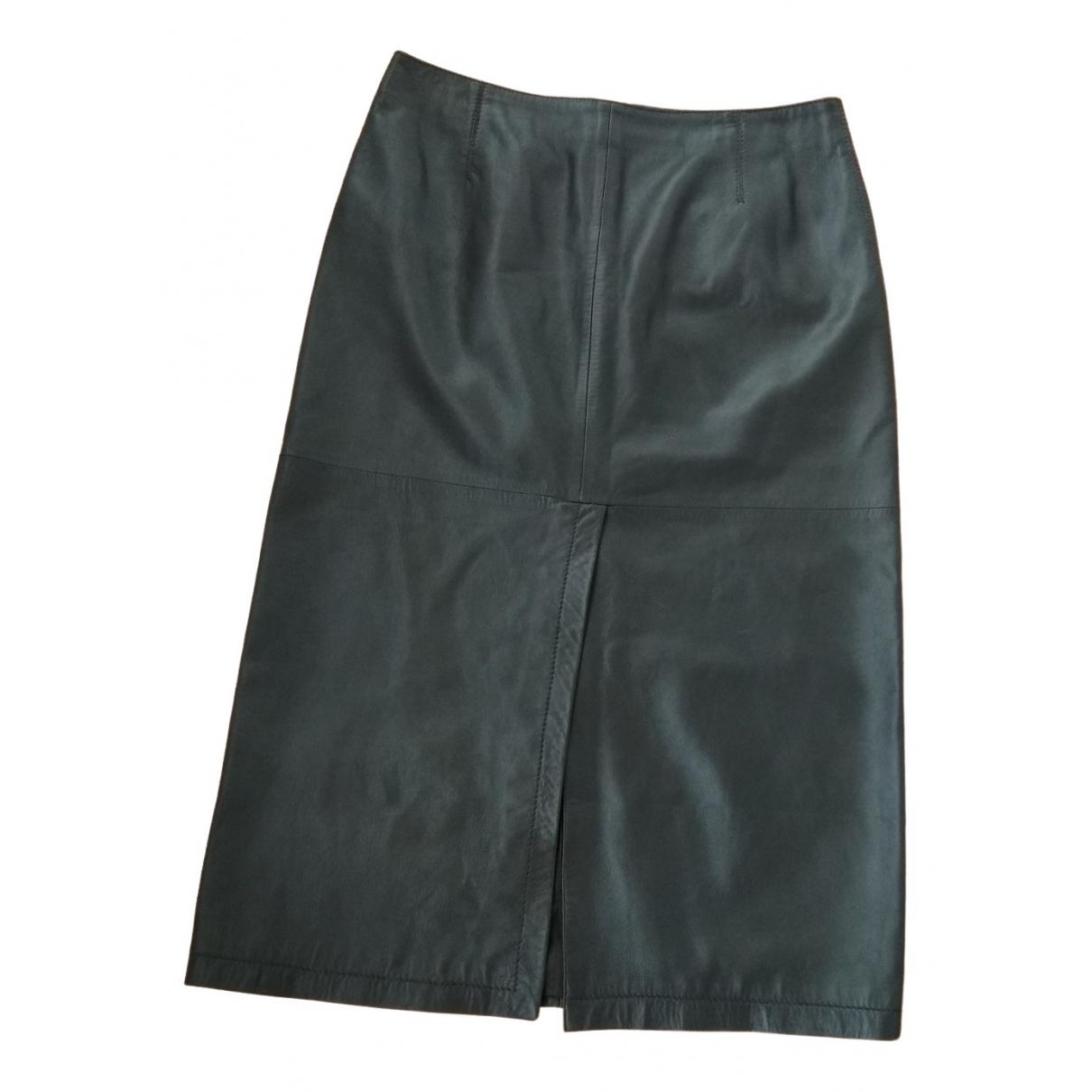 Armani Collezioni - Jupe   pour femme en cuir - noir