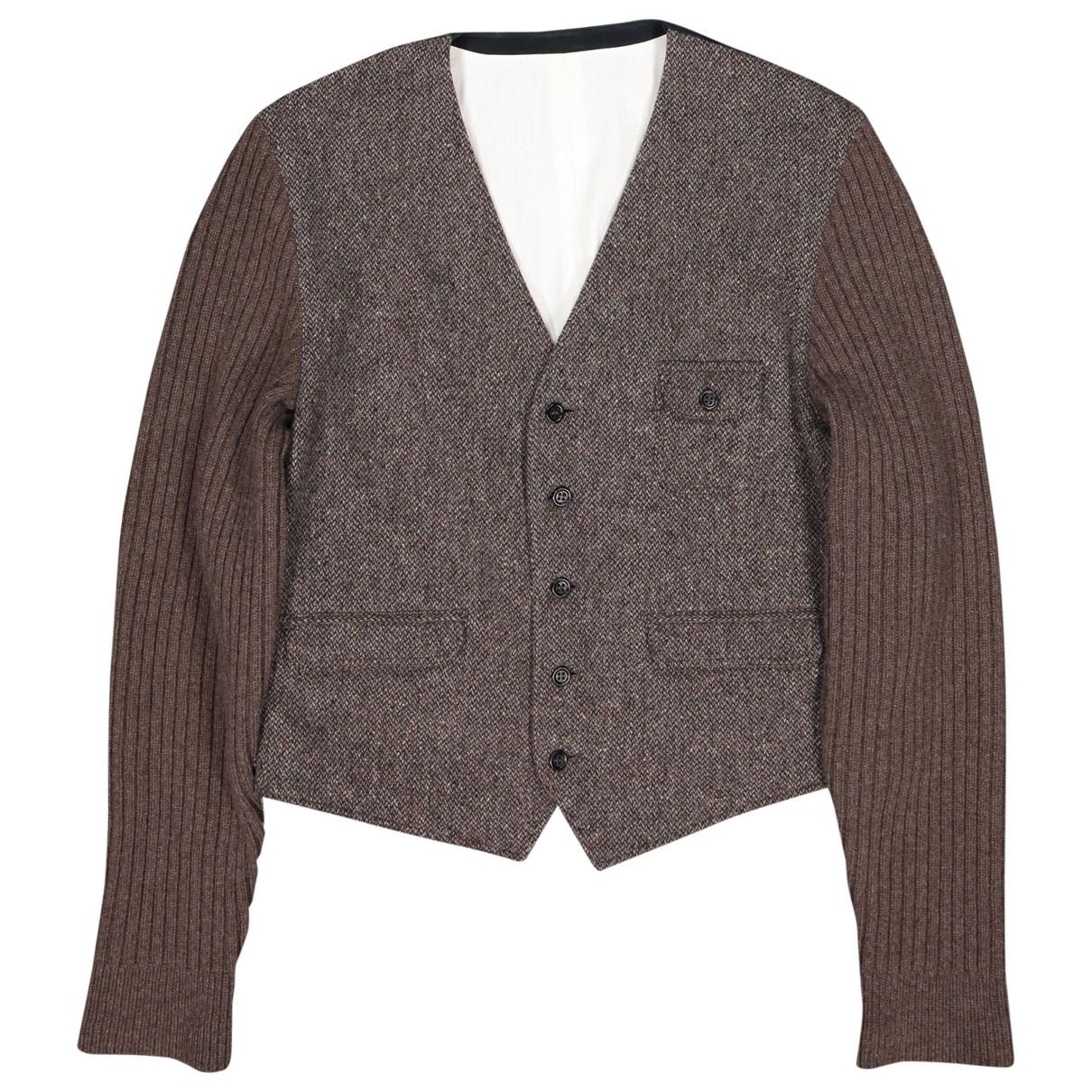Dolce & Gabbana \N Pullover.Westen.Sweatshirts  in  Braun Wolle