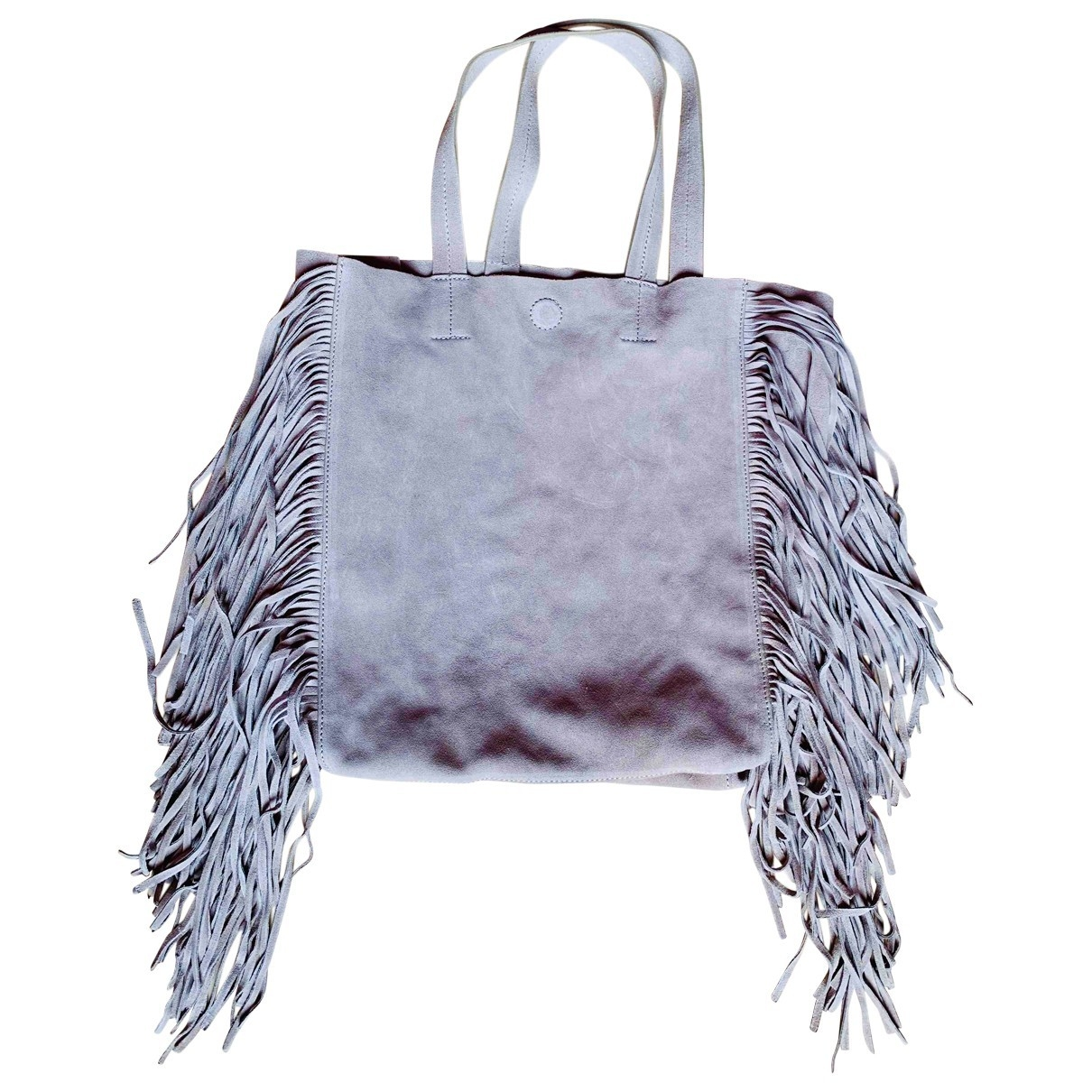 Non Signe / Unsigned \N Handtasche in  Grau Leder