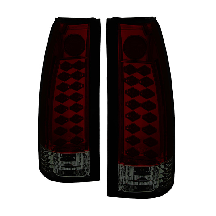 Spyder Auto ALT-YD-CCK88-LED-RS Red Smoke LED Taillights GMC Sierra 88-98