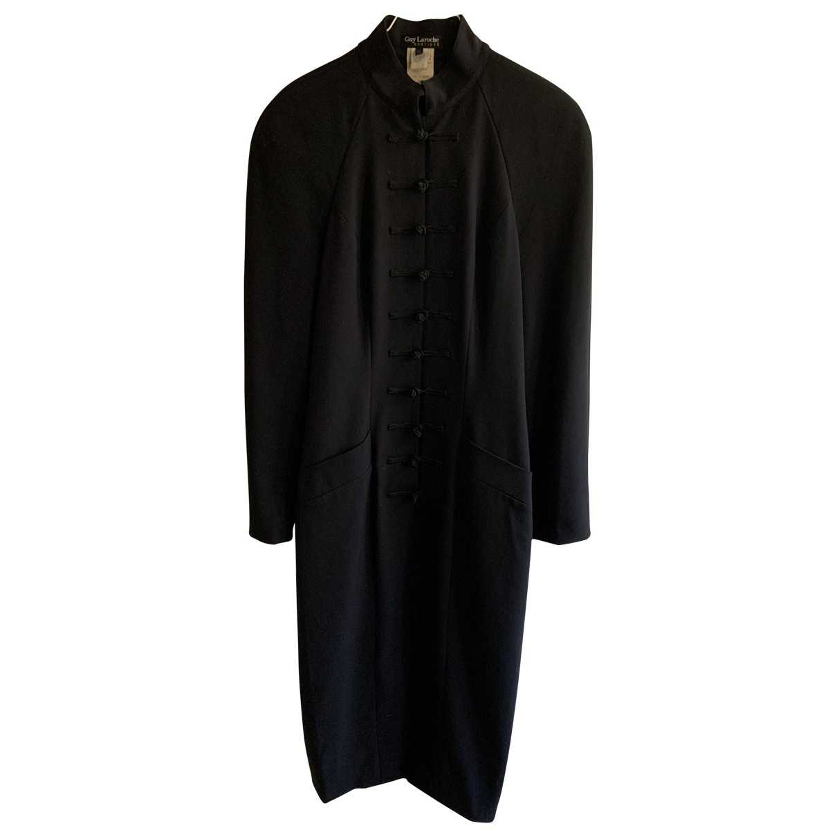 Guy Laroche - Robe   pour femme en laine - marine
