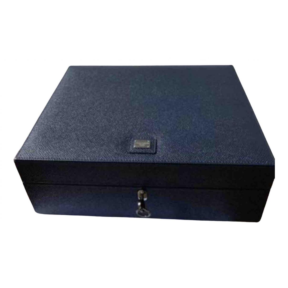 Dolce & Gabbana - Objets & Deco   pour lifestyle en cuir - bleu