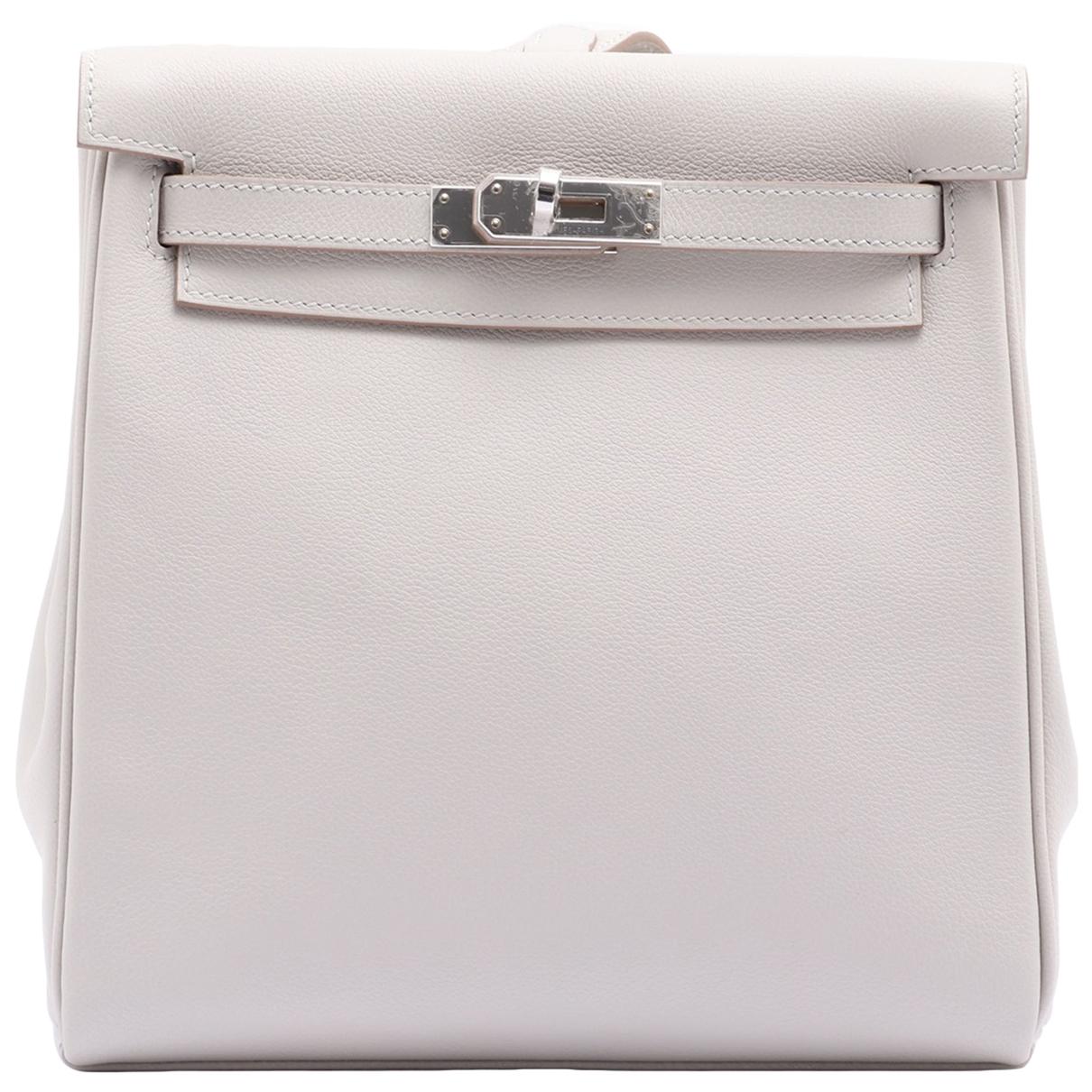 Hermès Kellyado White Leather handbag for Women N