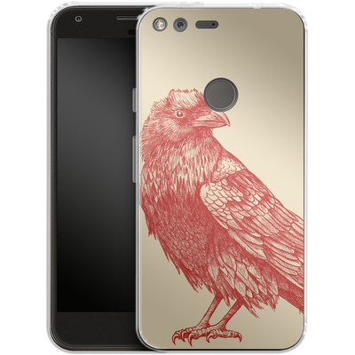 Google Pixel Silikon Handyhuelle - Red Raven von Terry Fan