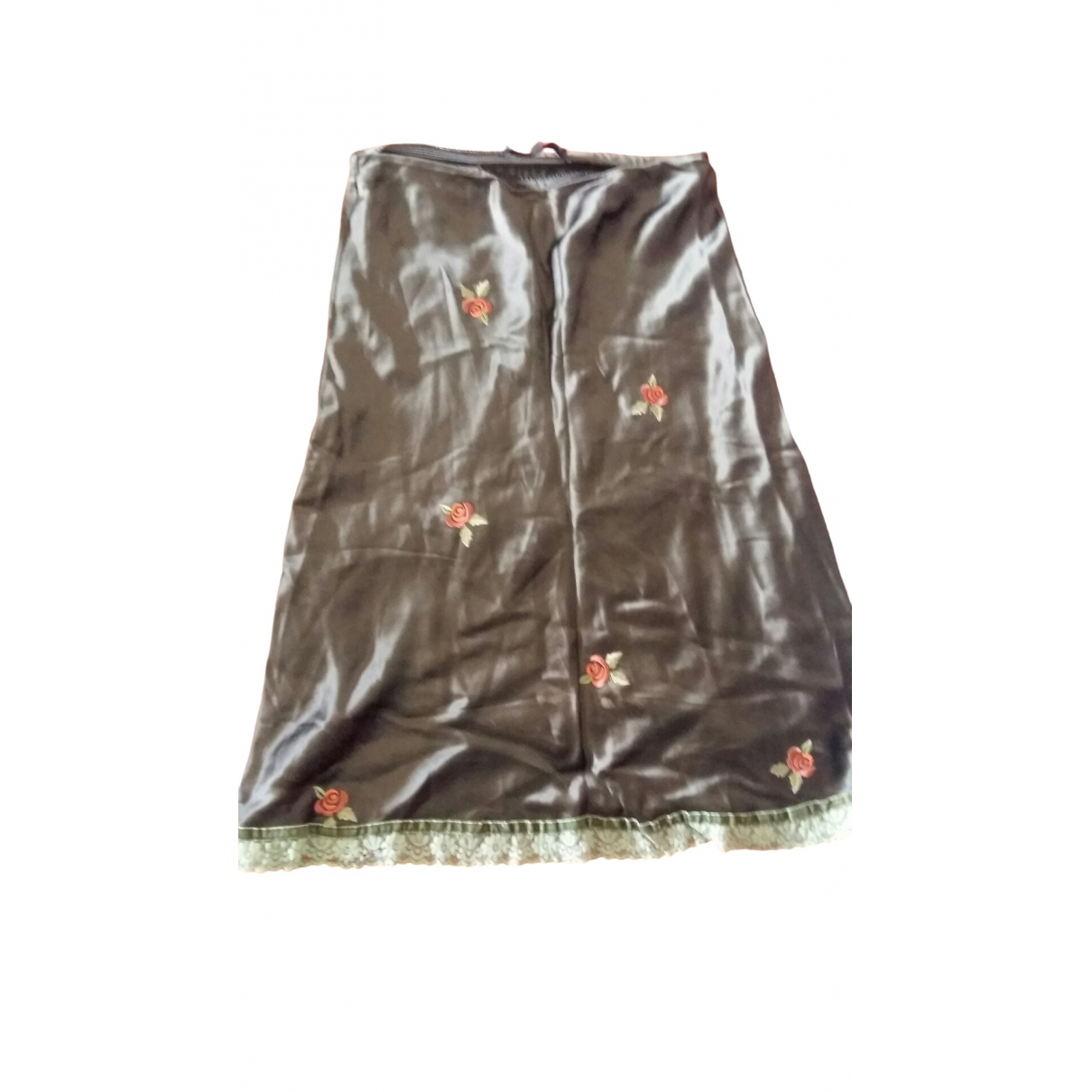 Non Signé / Unsigned Hippie Chic Green skirt for Women 42 IT