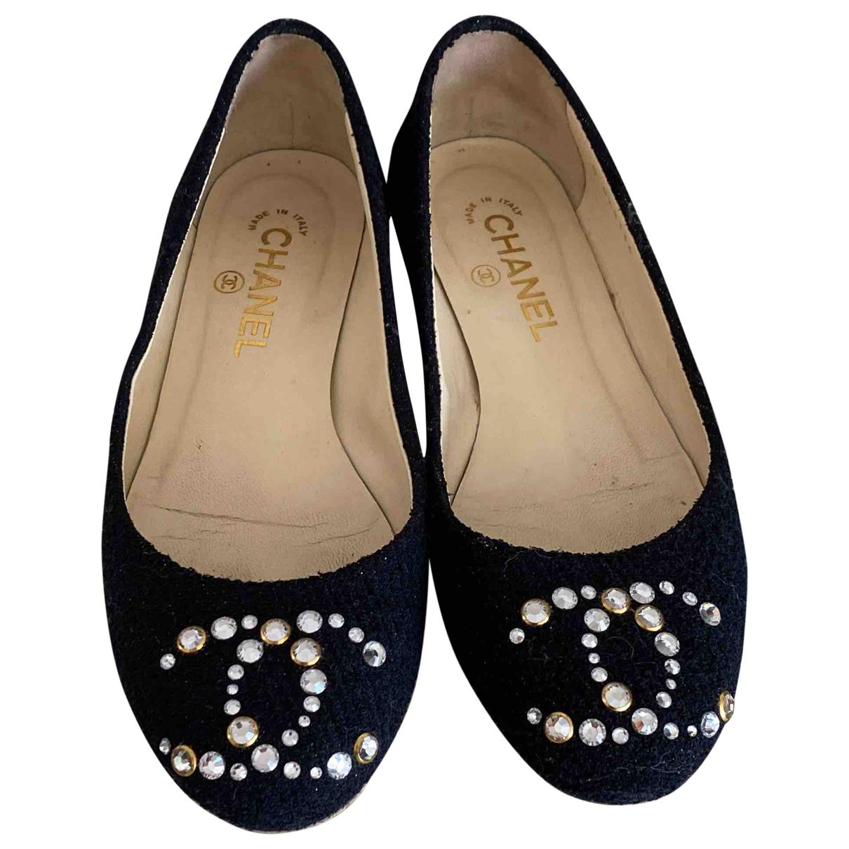 Chanel \N Black Cloth Ballet flats for Women 38 EU
