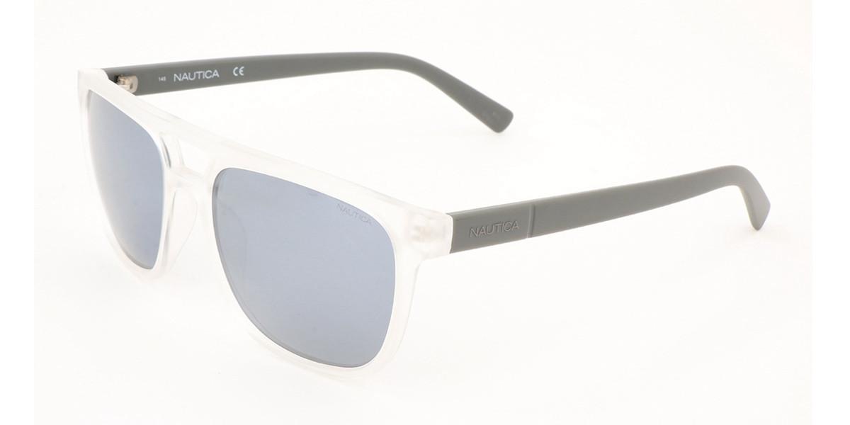 Nautica N3633SP Polarized 909 Men's Sunglasses Clear Size 56