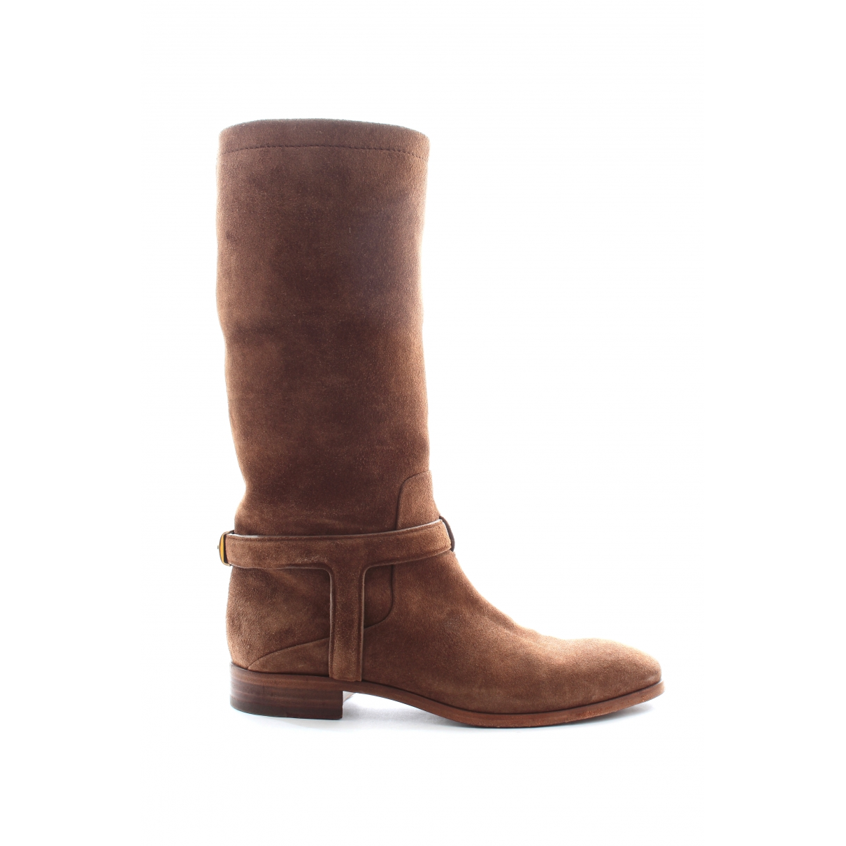 Dior \N Brown Leather Boots for Women 38.5 EU