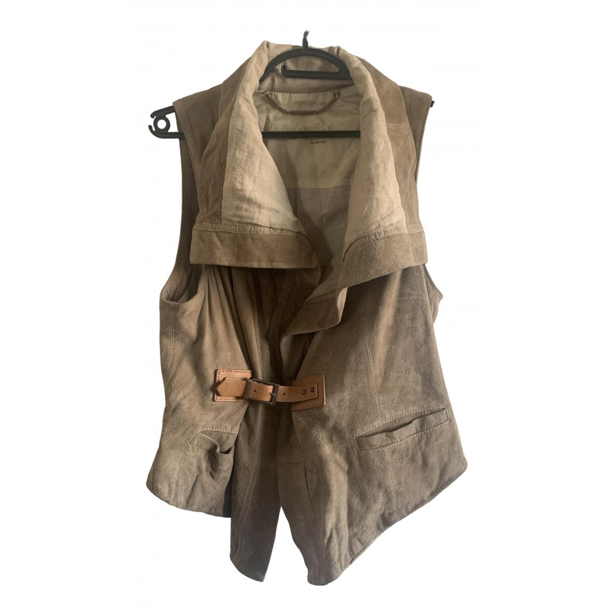 Barbara Bui \N Beige Leather jacket for Women 38 FR