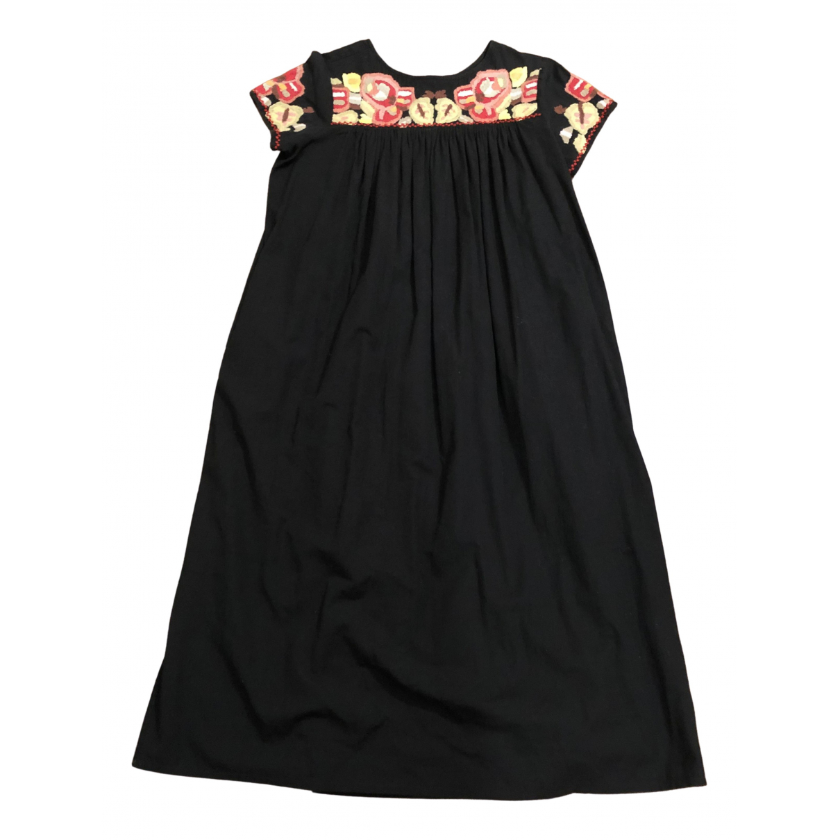 Attic And Barn \N Black Cotton dress for Women 44 IT