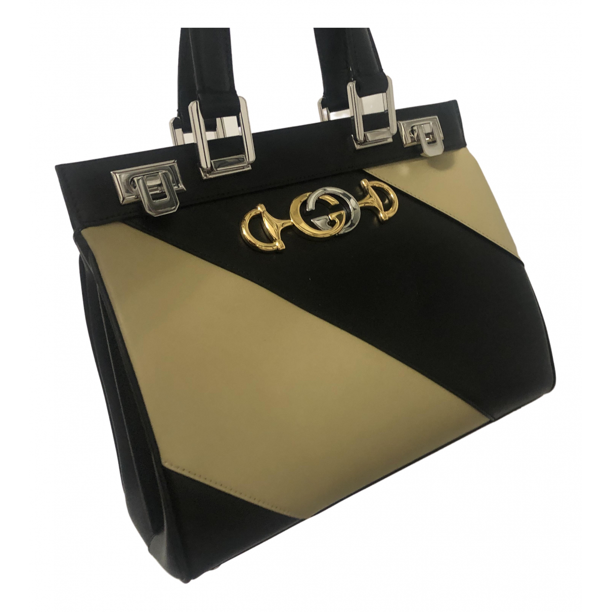 Gucci Zumi Handtasche in  Beige Leder