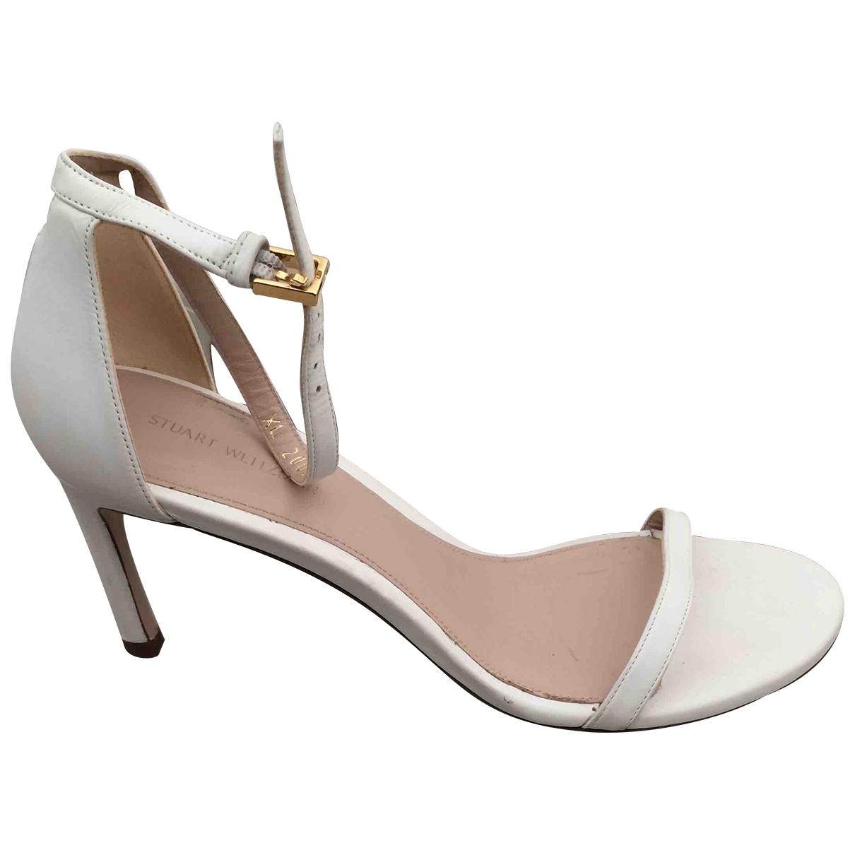 Stuart Weitzman - Sandales   pour femme en cuir - blanc