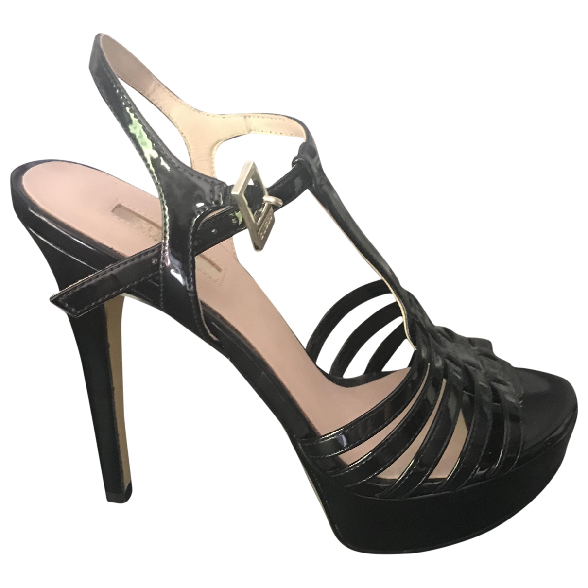 Guess \N Black Patent leather Sandals for Women 37 IT