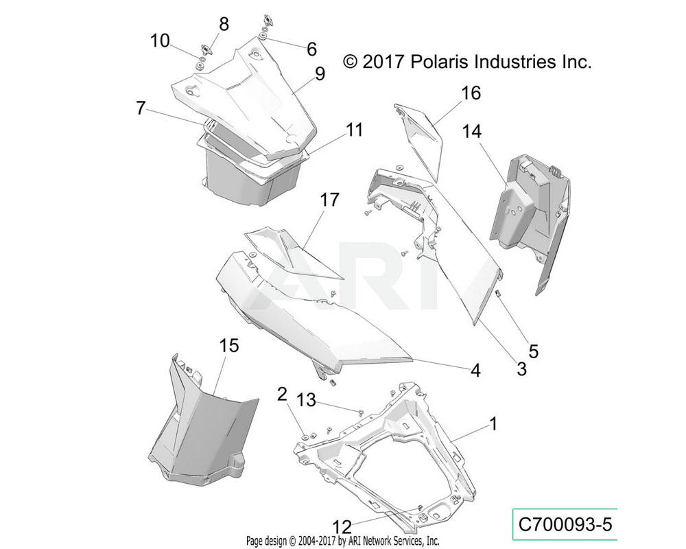 Polaris OEM 5433833 GROMMET-SIDE COVER