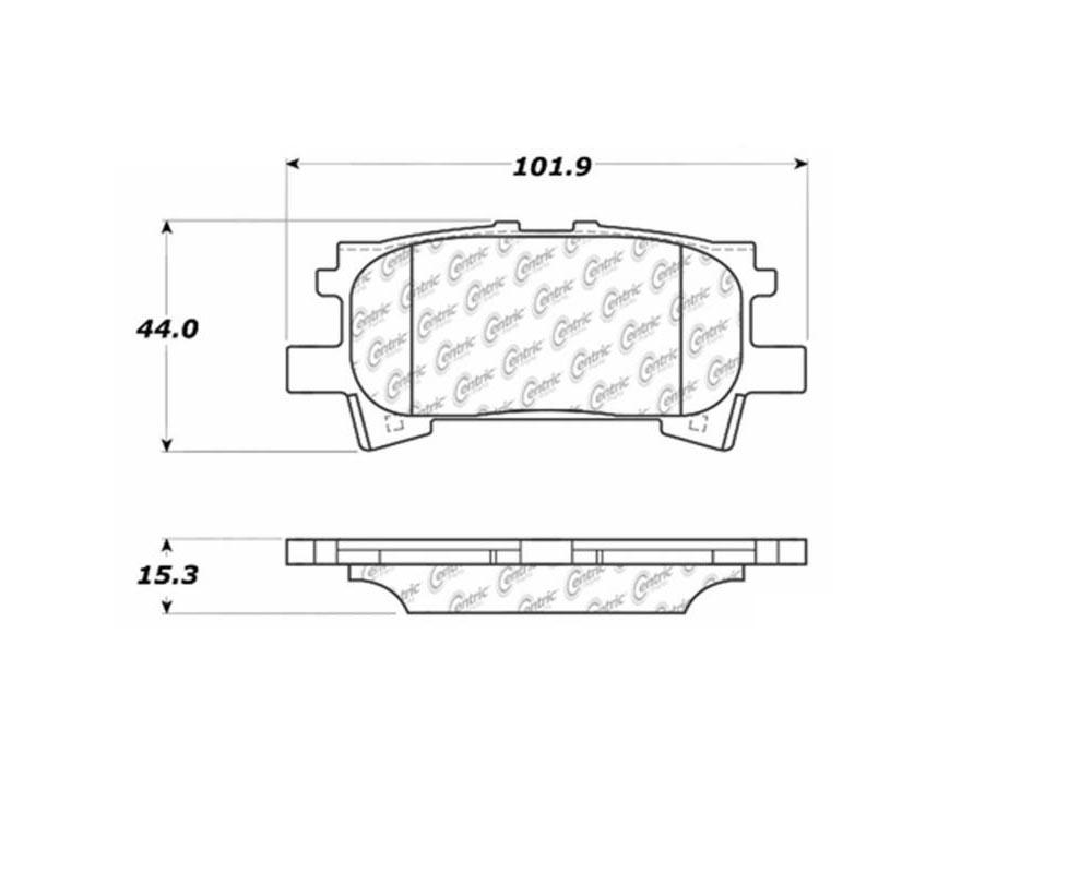 StopTech 105.0996 PosiQuiet Ceramic Pads Lexus Rear