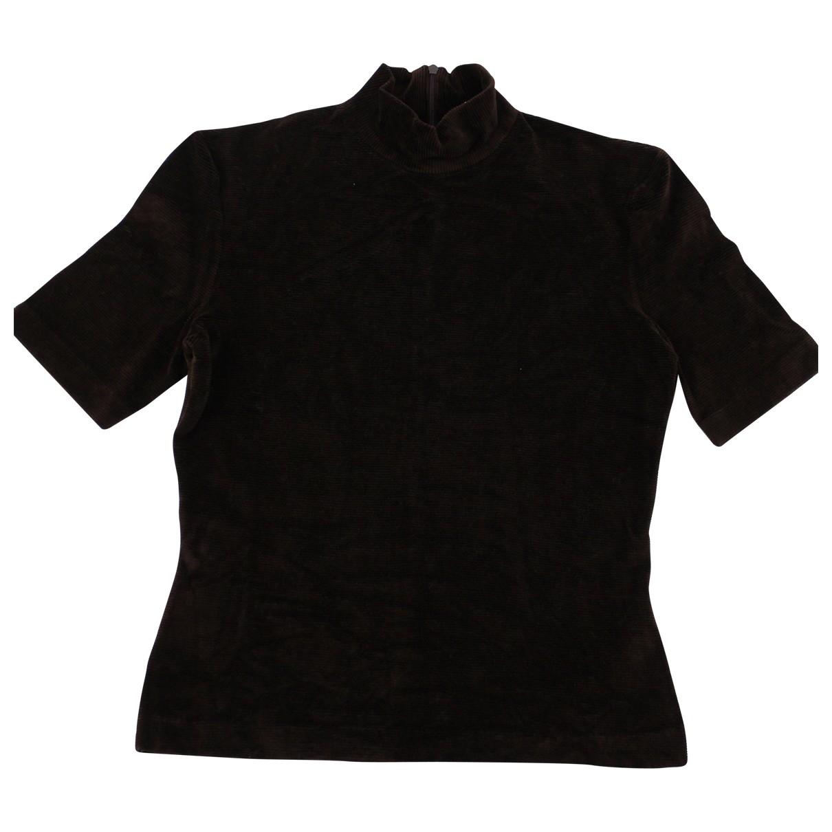 Marella - Top   pour femme en velours - marron