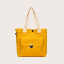 Minimalist Push Lock Shopper Bag