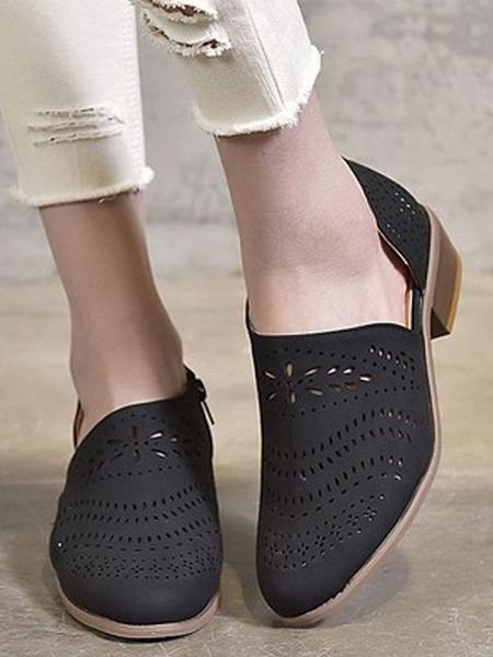 Milanoo Women Summer Boots Pointed Toe Slip On Boots