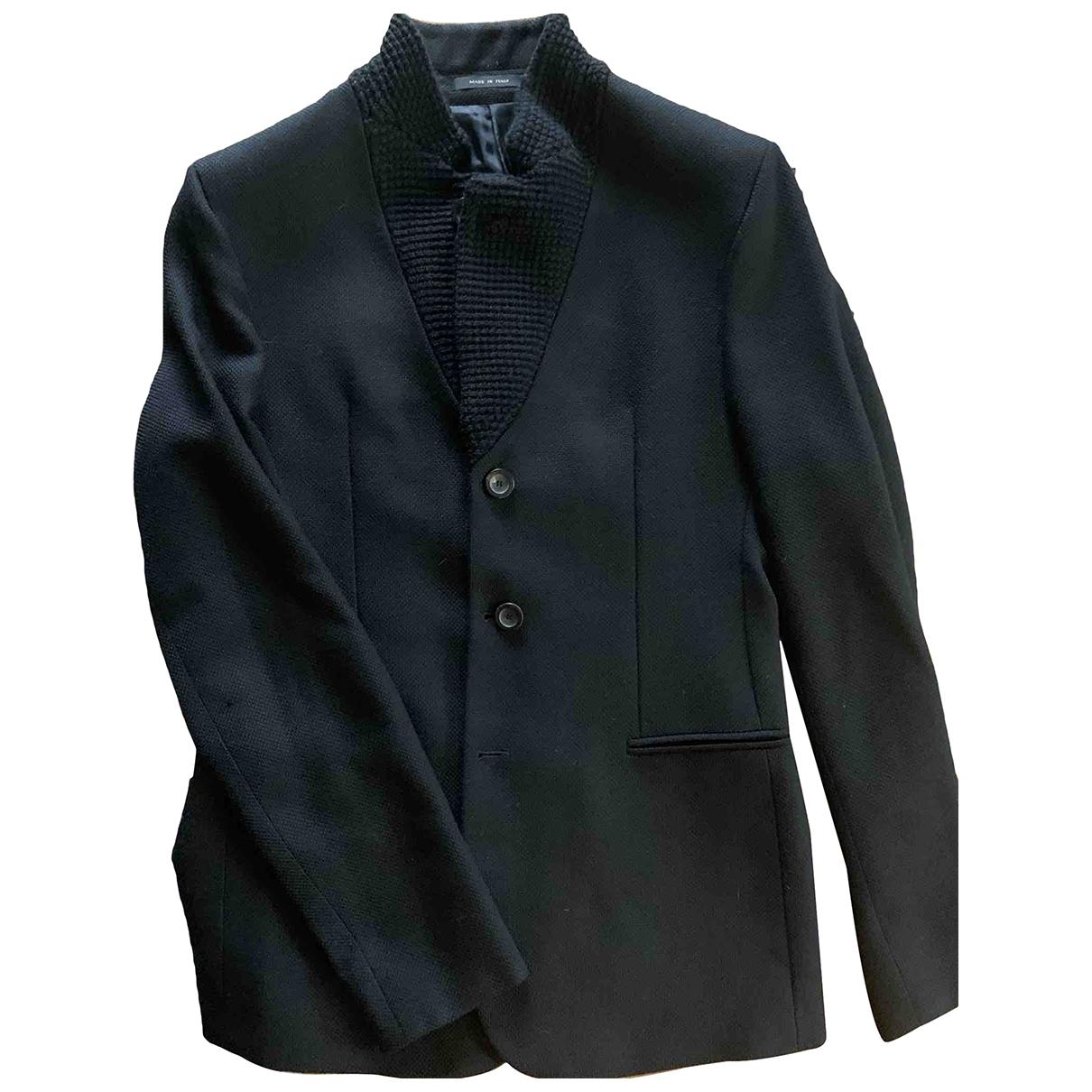 Emporio Armani - Vestes.Blousons   pour homme en laine - noir