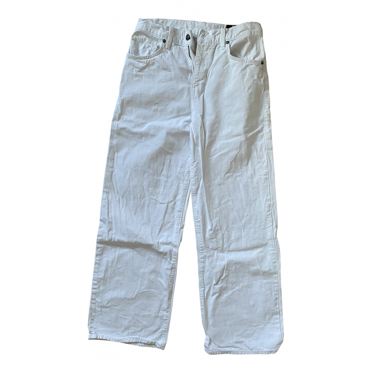 Vince N White Cotton Jeans for Women 26 US