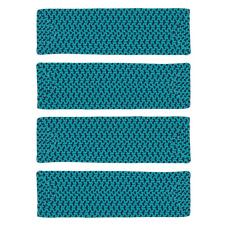 Colonial Mills Montego Braided Rectangular Reversible Indoor Stair Treads, One Size , Multiple Colors