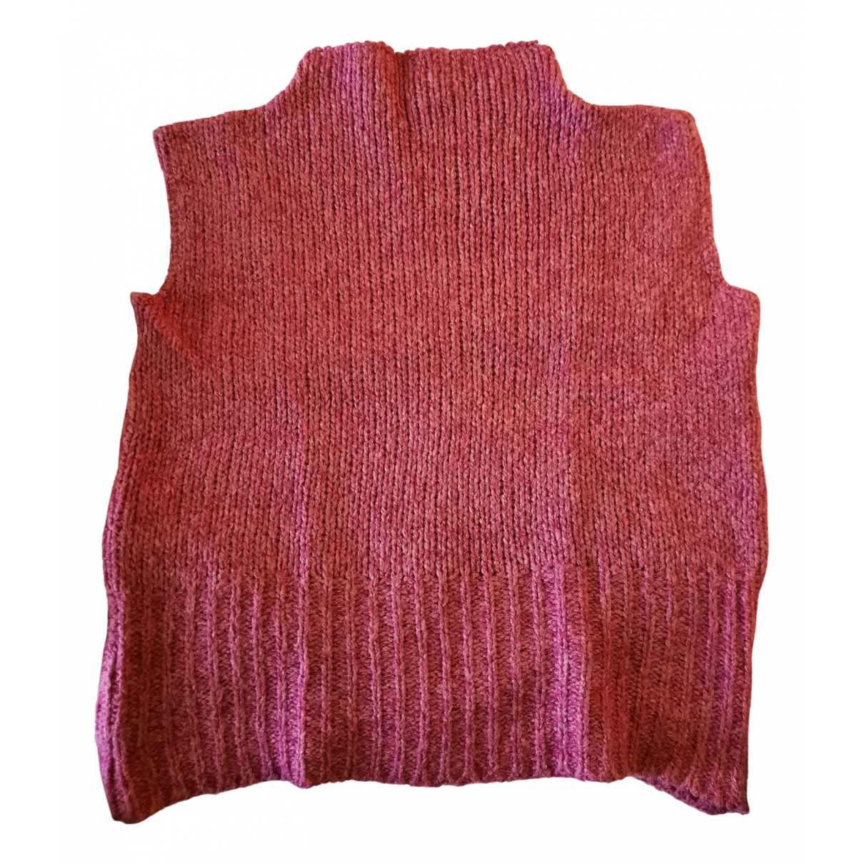 Non Signe / Unsigned \N Pullover in  Rosa Wolle