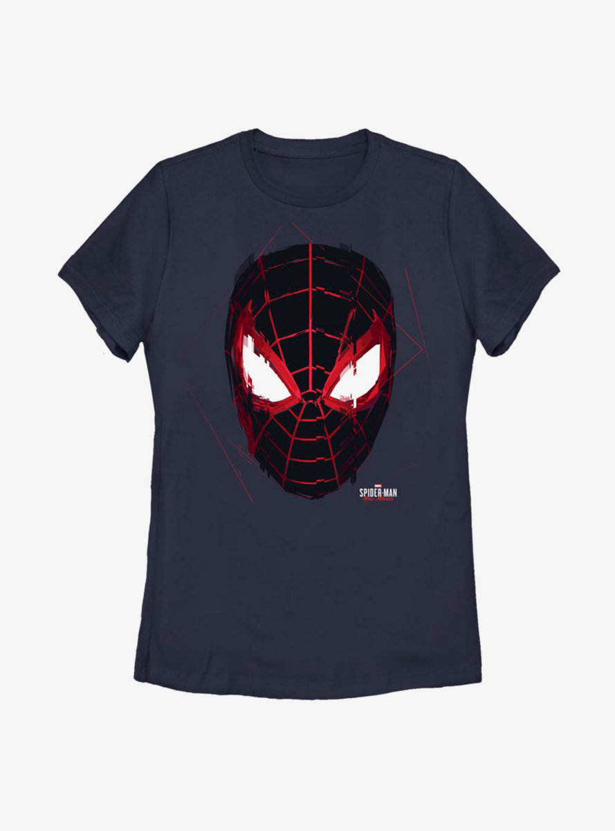 Marvel Spider-Man Miles Morales Glitch Mask Womens T-Shirt